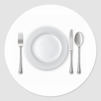 Table Setting Classic Round Sticker