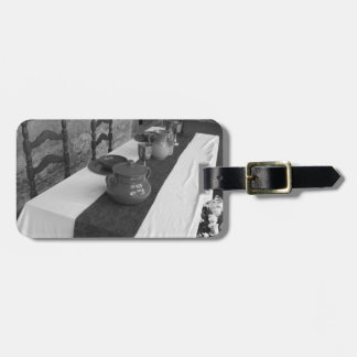 Table settings for a medieval style banquet luggage tag