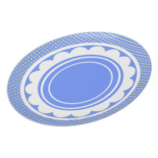 Table-Statements (c)_Happy_Blue_Checks_Everyday Plate