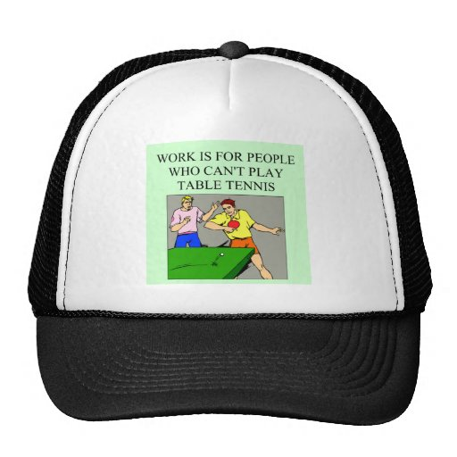 TABLE TENNIS1 HATS