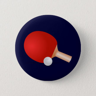 Table Tennis 6 Cm Round Badge