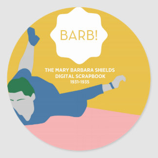 Table Tennis Barb Classic Round Sticker