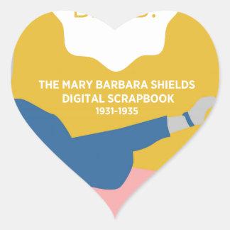 Table Tennis Barb Heart Sticker