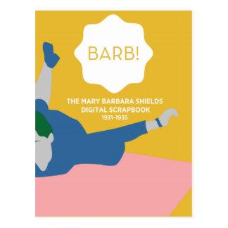 Table Tennis Barb Postcard