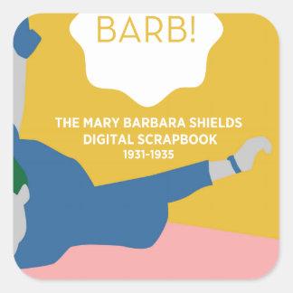 Table Tennis Barb Square Sticker