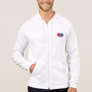 table tennis bat and ball hoodie
