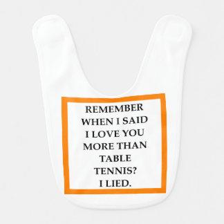 table tennis bib