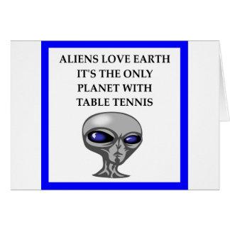 table tennis card