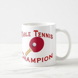 Table Tennis Champion Coffee Mugs