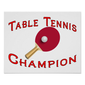 Table Tennis Champion Poster