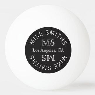 table_tennis circle monogram, choose the color ping pong ball
