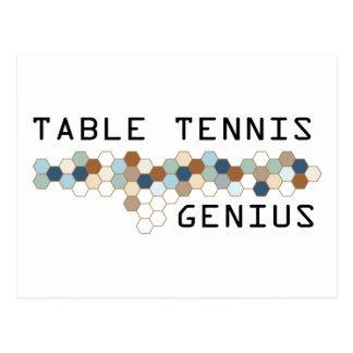 Table Tennis Genius Postcard