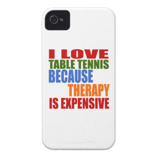 Table Tennis Is My Therapy iPhone 4 Cases