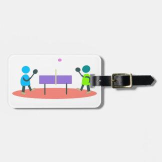 table tennis luggage tag