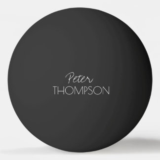 table tennis monogram black_ball ping pong ball