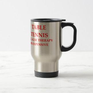 table tennis 15 oz stainless steel travel mug