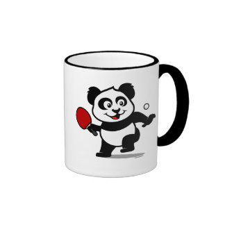 Table Tennis Panda Coffee Mugs