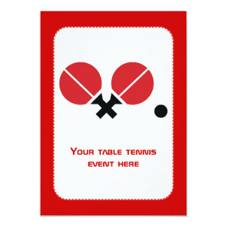 Table tennis ping-pong rackets and ball black, red card