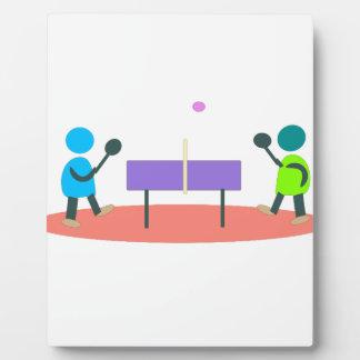 table tennis plaque
