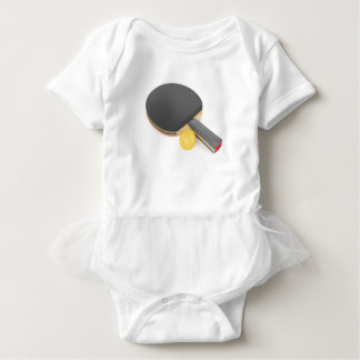 Table tennis racket and ball baby bodysuit