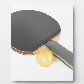 Table tennis racket and ball plaque