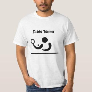 Table Tennis Stick Figure T Shirt