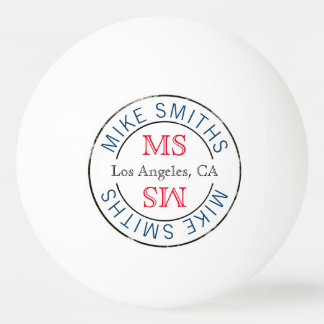 table_tennis stylish circle monogram ping pong ball