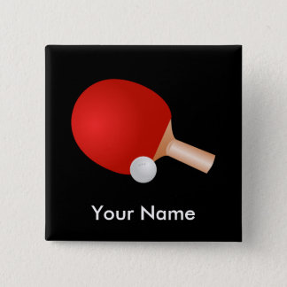 Table Tennis template 15 Cm Square Badge