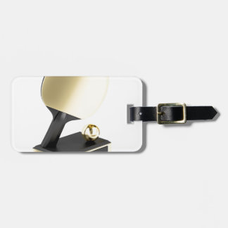 Table tennis trophy luggage tag