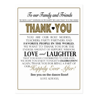 Table Thank You Notes Postcard