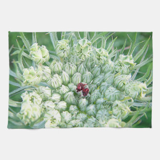 Table-ware cloth green-white game blooms hand towels