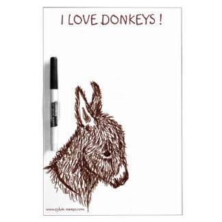 Tableau Effacable I COILS DONKEYS Dry Erase Board