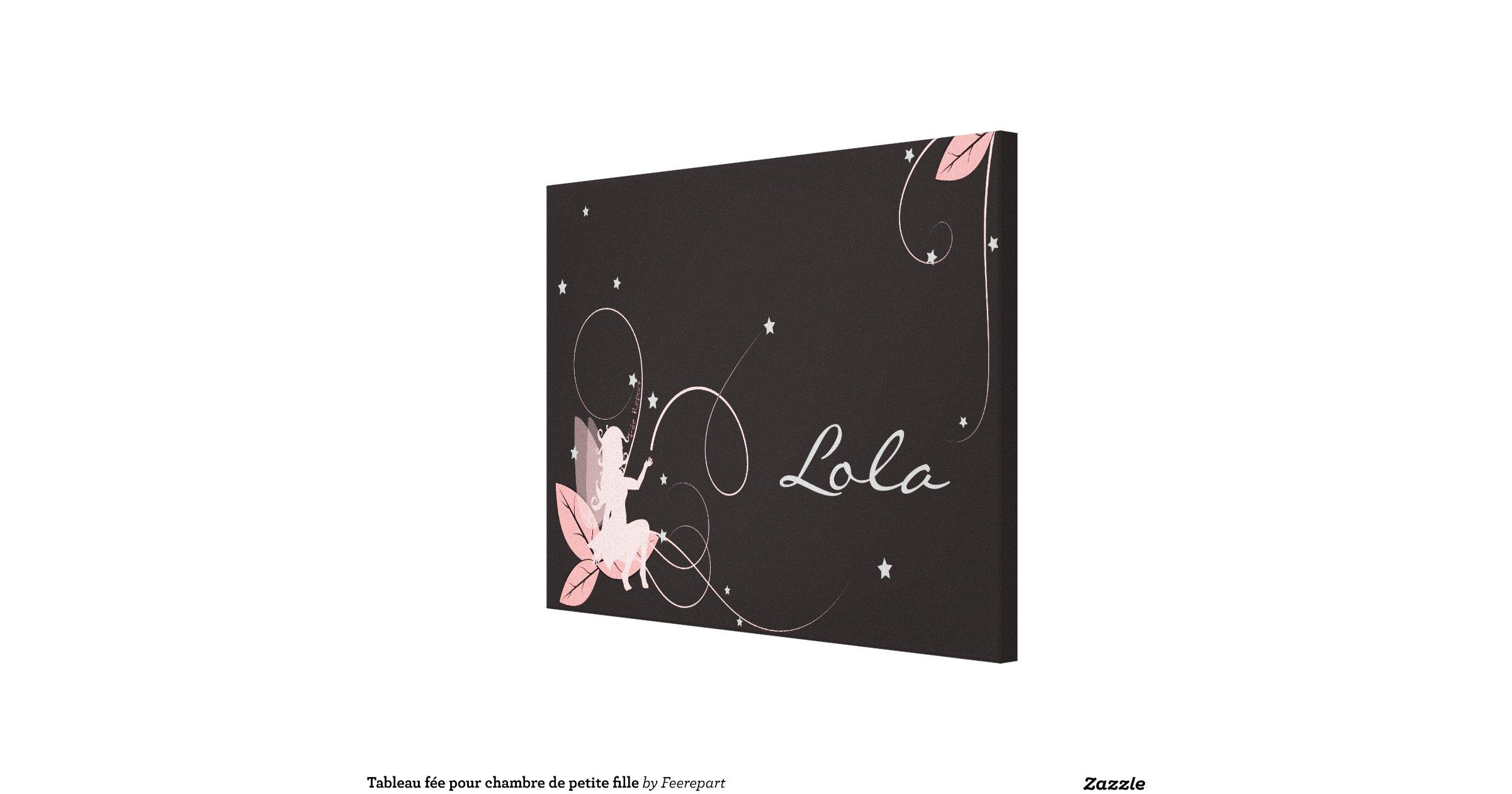Tableau f e pour chambre de petite fille stretched canvas prints zazzle - Photo de chambre fille ...
