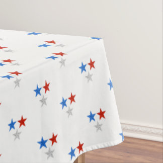 "Tablecloth ""60x84"" July 4th Patriotic Stars"