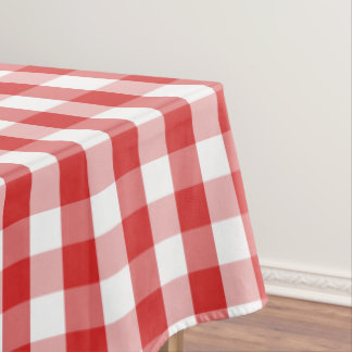 "Tablecloth ""60x84"" Red Checkerboard"