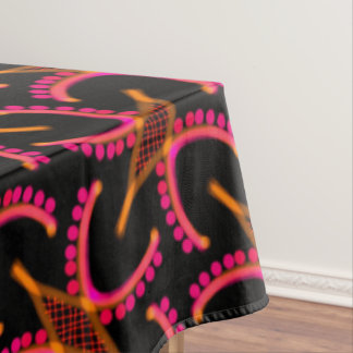 Tablecloth Jimette black orange pink Design