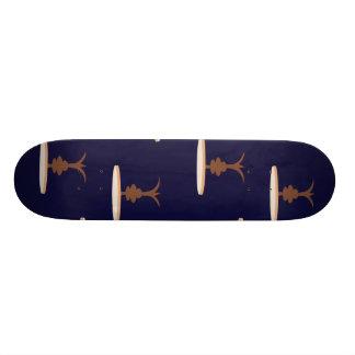 tables dark purple skate board decks