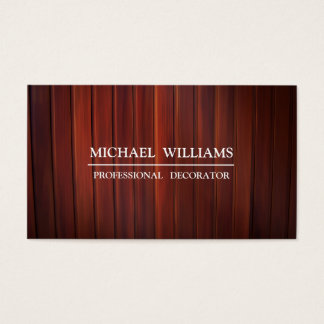 TABLES DE BROWN MADERA BUSINESS CARD