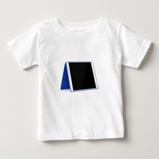 Tablet computer on white baby T-Shirt
