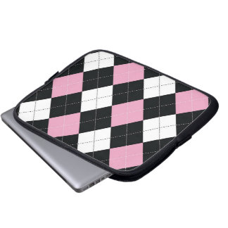 Tablet & Laptop Sleeve - Argyle SQ  - RockCandy