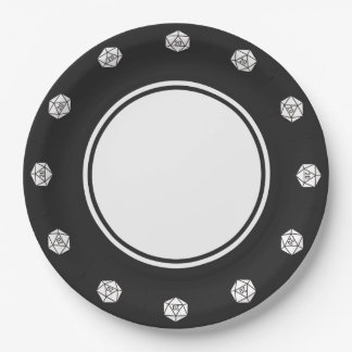 Tabletop Chic in Black Paper Plate