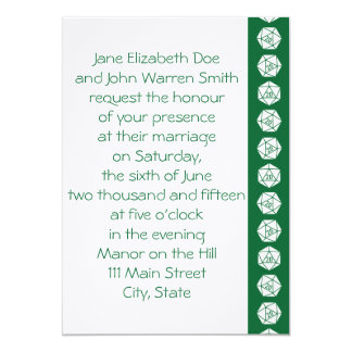 Tabletop Chic in Green Wedding Invitation