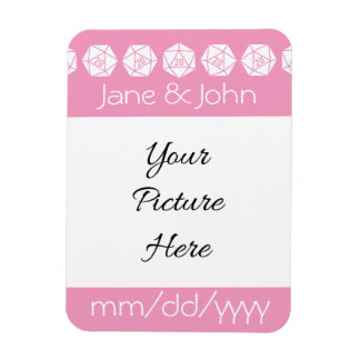 Tabletop Chic in Petal Pink Save-the-Date Magnet Magnet