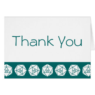 Tabletop Chic in Teal Thank You Card