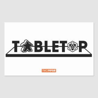 Tabletop Design Rectangular Sticker