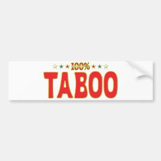 Taboo Star Tag Bumper Sticker
