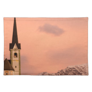 Tabor church at sunrise placemat