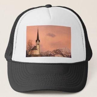 Tabor church at sunrise trucker hat