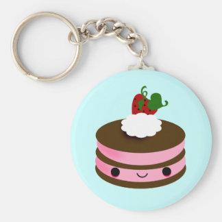 Tabu Japan Cake Line- Pink Key Ring