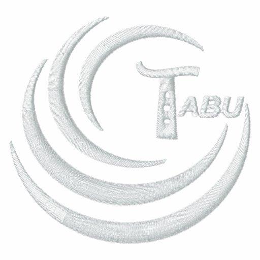 Tabu Logo Ladies T  Embroidered White Logo